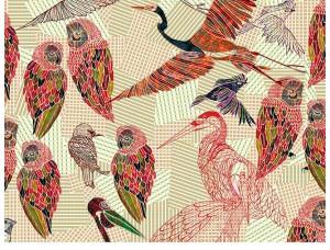 Обои PENCIL BIRDS